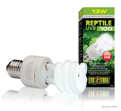 EXOTERRA REPTILE UVB 100 lamppu 13W / 25W