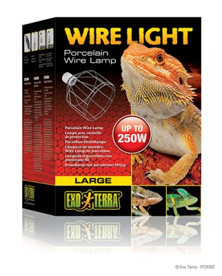 EXOTERRA WIRE LIGHT metallikehikkolamppu